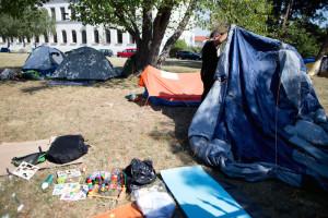 Flüchtlingslager Traiskirchen: Auch ein Cousin Amirs war hier (Foto: Georg Hochmuth / APA / picturedesk.com)