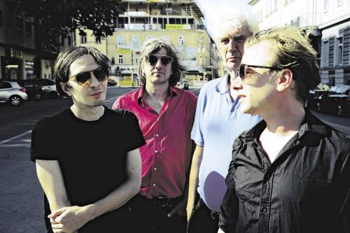Andreas Spechtl (l.), Kristof Schreuf, Thomas Ebermann und Robert Stadlober haben in Graz ihre Auseinandersetzung mit dem Philosophen Herbert Marcuse vertieft (Foto: J.J. Kucek)
