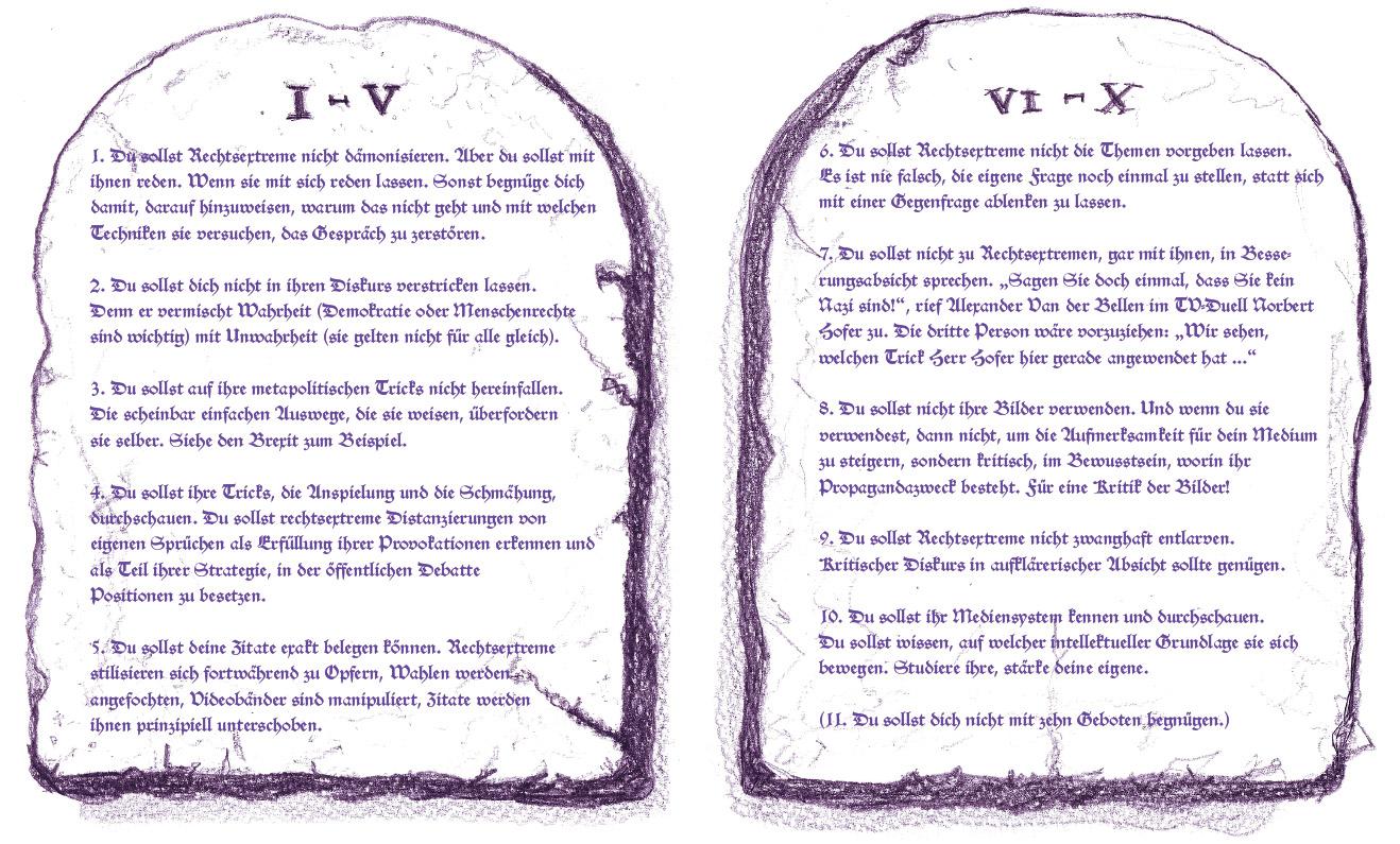 Zehn Gebote Für Die Kommunikation Mit Rechten Falter 16 19