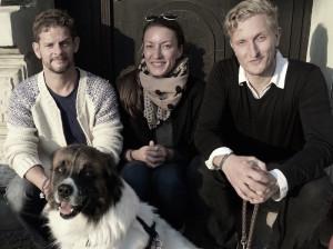Der harte Kern des Hauses Bartleby: Hund Anwalt, Jörg Petzold, Alix Faßmann und Anselm Lenz (Foto: elevate)