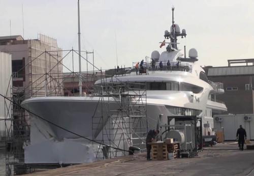 """Die Yacht """"Graceful"""" gehört einem Oligarchen, vielleicht auch einem hohen Politiker? (Foto: Archiv)"""