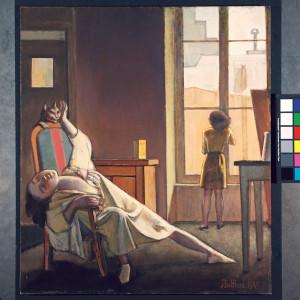 """Erotischer Müßiggang in Balthus' Gemälde """"Schulfreie Woche"""" von 1949 (Foto: Frances Lehman Loeb Art Center, Vassar College, Poughkeepsie, NY)"""