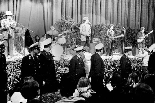 Die Rolling Stones am 2. April 1967 in der Wiener Stadthalle. 2014 stehen Jagger, Richards & Co noch immer auf der Bühne (Foto: Votava / Wien Holding)